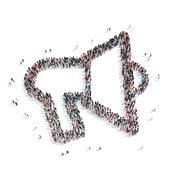 Group people   mouthpiece Stock Illustration
