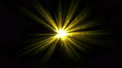 Bright Star and Light Animation - Loop Yellow Stock Footage