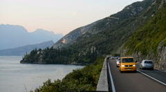 Traffic around a Lake Garda, Italy. Stock Footage