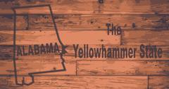 Alabama Map Brand Stock Illustration