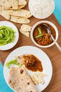 Mutton rogan josh meal - stock photo