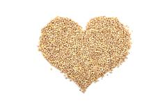 Pearl barley in a heart shape Stock Photos