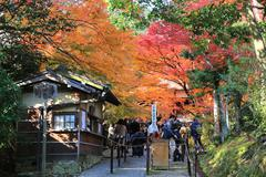 fall season at Deva of Jojakukoji temple - stock photo