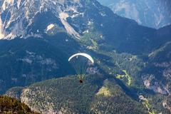 Dachstein-Krippenstein paraglider - stock photo