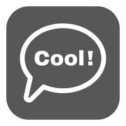 Stock Illustration of The speech bubble with the word cool icon. Internet and  chat, online symbol