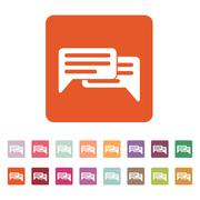 The chat icon. Internet and forum, blog, online symbol. Flat - stock illustration