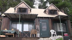 Summer cabin ready for guests Stock Footage