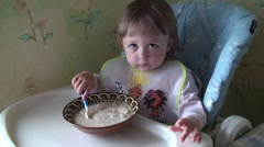 Child Kid Eating - stock footage