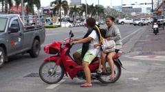 traffic in Pattaya - stock footage