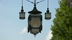 Beautiful street lamp in Berlin Stock Footage