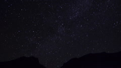 Time-lapse. Stars in the night sky Stock Footage
