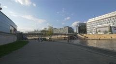 View of Crown Prince Bridge in Berlin Stock Footage