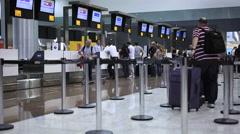 Guarulhos Airport, Sao Paulo, Brazil. Passengers. International Terminal. Stock Footage