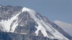 Melting Glacier on Mountain Summit Stock Footage