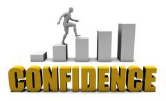 Confidence - stock illustration
