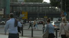 The Berlin Zoologischer Garten Station in Berlin Stock Footage