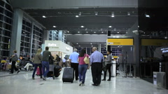 Guarulhos Airport, Sao Paulo, Brazil. Passengers. International Terminal. Stock Footage
