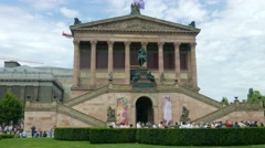 The Old National Gallery (Alte Nationalgalerie) in Berlin Stock Footage