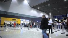 Guarulhos Airport, Sao Paulo, Brazil. Passengers. International Terminal. - stock footage