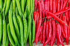 chilli green and red were arranged in a neat and colors ranged break so beaut - stock photo