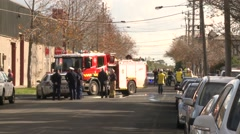 Emergency services in street Stock Footage