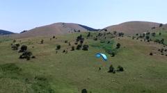 Paragliding in Abant Bolu in Turkey Stock Footage