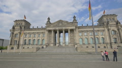 The best view of the Reichstag Building in Berlin Stock Footage