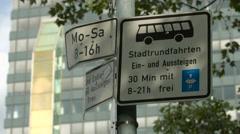 Stadtrundfahrten sign in Berlin Stock Footage