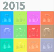 Circle calendar for 2015 year - stock illustration