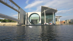 The facade of Marie-Elisabeth-Luders-Haus in Berlin Stock Footage