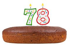 Birthday cake with candles number seventy eight Stock Photos