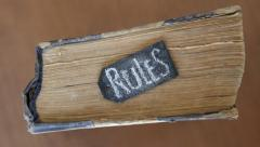 "Lettering ""Rules"" and book Stock Footage"