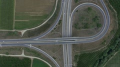 Birds-eye view of  Highway Stock Footage