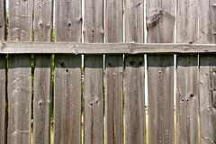 Classic aged wooden fence as a background texture Stock Photos