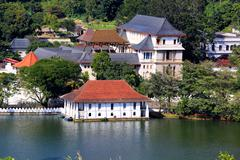 Temple of Tooth Relic in Kandy, Sri Lanka - stock photo