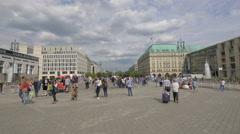 View of Pariser Platz and Adlon Hotel, Berlin Stock Footage