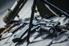 Weapon pile Stock Photos