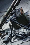 weapon pile - stock photo