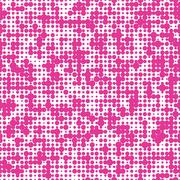 Seamless pink background with polka dots - stock illustration