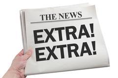News Extra - stock photo