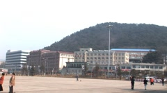 China Dalian Town Centre Stock Footage