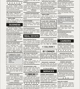 Classified Ad Stock Illustration