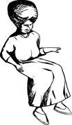 Isolated Cartoon Woman Sitting Stock Illustration