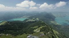 Alpine Mountain Lakes - Fuschlsee and Mondsee Stock Footage