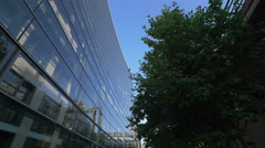 Glass building on Reinhardtstrasse in Berlin Stock Footage