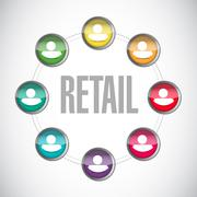 Stock Illustration of retail people connections sign concept