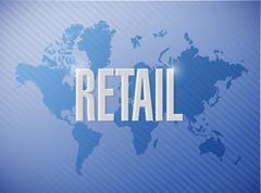 Stock Illustration of retail world map sign concept illustration