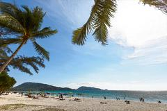Texture effect in Hat Patong Beach photo - stock photo