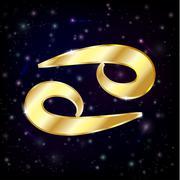 Astrology Cancer. - stock illustration