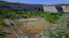 Very old (now abandoned) limestone quarries. Stock Footage